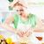 mulher · jovem · salada · de · frutas · belo · fruto · de · laranja · salada · cozinha - foto stock © MilanMarkovic78