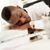 fáradt · üzletember · afrikai · asztal · iratok · késő - stock fotó © MilanMarkovic78