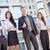 geslaagd · business · team · jonge · permanente · buiten · kantoorgebouw - stockfoto © MilanMarkovic78