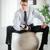 üzletember · nyakkendő · felfelé · kész · üzlet · fehér - stock fotó © milanmarkovic78