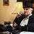 férfi · írógép · otthon · munka · fókusz · üzlet - stock fotó © milanmarkovic78