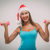 Рождества · Фитнес-женщины · возбужденный · талия - Сток-фото © milanmarkovic78