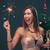 güzel · bir · kadın · şampanya · noel · ağacı · insanlar · tatil · kutlama - stok fotoğraf © milanmarkovic78