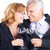 idős · pár · iszik · vörösbor · érett · pár · szórakozás - stock fotó © milanmarkovic78