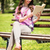 woman reading book in the park stock photo © milanmarkovic78