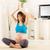 prenatale · yoga · bella · giovani · donna · incinta · home - foto d'archivio © MilanMarkovic78