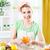 young woman peeling oranges stock photo © milanmarkovic78