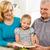 avó · little · girl · leitura · livro · feliz · juntos - foto stock © milanmarkovic78