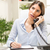 businesswoman phoning in the office stock photo © milanmarkovic78