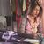 jonge · mode · ontwerper · werk · mooie · vrouw · rechtdoor - stockfoto © milanmarkovic78