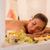 feliz · mulher · jovem · de · volta · massagem - foto stock © milanmarkovic78