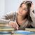 женщину · сидят · таблице · мышления · домашнее · задание · портрет - Сток-фото © milanmarkovic78