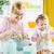 kobiet · piekarz · uśmiechnięty · kuchnia · ręce · restauracji - zdjęcia stock © milanmarkovic78