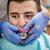 stomatologicznych · wrażenie · dentysta · szelki · mężczyzna · pacjenta - zdjęcia stock © milanmarkovic78