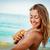 girl applying sunscreen cream stock photo © milanmarkovic78