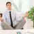 zakenman · lotus · pose · mediteren · kantoor · business - stockfoto © milanmarkovic78