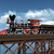 oude · stoomlocomotief · klein · groene · rook · trein - stockfoto © miro3d
