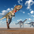 nanotyrannus and apatosaurus stock photo © miro3d