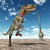 nanotyrannus and mamenchisaurus stock photo © miro3d