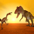 velociraptor and cryolophosaurus stock photo © miro3d