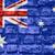 bayrak · Avustralya · tuğla · duvar · boyalı · grunge · doku - stok fotoğraf © mironovak