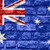 vlag · Australië · muur · geschilderd · grunge · textuur - stockfoto © mironovak