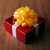 one large red gift box on a wood stock photo © mizar_21984