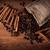 pörkölt · kávé · fahéj · asztal · mezőgazdaság · fűszer - stock fotó © mizar_21984