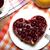 framboesa · torta · forma · coração · aniversário - foto stock © mizar_21984