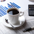 business still life and cup of coffee stock photo © mizar_21984