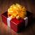 een · witte · geschenkdoos · Geel · lint · boeg - stockfoto © mizar_21984