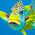 színes · átló · Nagy-korallzátony · háttér · óceán · kék - stock fotó © MojoJojoFoto