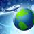 Föld · kék · körül · Föld · repülőgépek · légy - stock fotó © mOleks