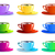 different color paper cups icons stock photo © moleks