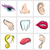 set of vector icons human body parts stock photo © moleks