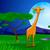 zsiráf · eszik · levelek · Afrika · naplemente · égbolt - stock fotó © mOleks