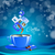 krém · kávé · kék · csésze · cappucchino · ital - stock fotó © mOleks