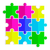 seamless texture of colored flat puzzle icon stock photo © moleks