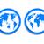 terra · blu · icona · pulsante · pianeta · terra · entrambi - foto d'archivio © mOleks