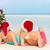 couple · séance · plage · arbre · de · noël · femme - photo stock © monkey_business