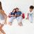 детей · прыжки · родителей · кровать · пижама - Сток-фото © monkey_business