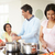 indian · familie · koken · home · asian · voedsel - stockfoto © monkey_business