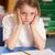triest · vergadering · bureau · klas · meisje · boeken - stockfoto © monkey_business