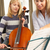 girl playing cello in music lesson stock photo © monkey_business