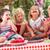 csoport · gyerekek · eszik · zselé · torta · szabadtér - stock fotó © monkey_business