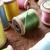 diferente · cores · tabela · agulha · madeira · têxtil - foto stock © monkey_business