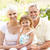 Grandparents And Granddaughter Relaxing In Garden stock photo © monkey_business