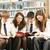 Öğrenciler · kütüphane · okuma · kitaplar · kız - stok fotoğraf © monkey_business