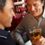 twee · mannen · praten · bier · bar · mannen · pub - stockfoto © monkey_business