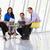 reunión · alrededor · mesa · moderna · oficina - foto stock © monkey_business